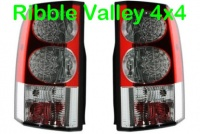 LAND ROVER DISCOVERY 3 & 4 UPGRADE REAR LED TAIL LIGHTS (PAIR) LR036163 LR036165