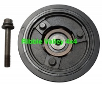 LHG100580 TD5 CRANKSHAFT DAMPER PULLEY AND BOLT