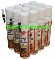 WURTH RTV SUPER SILICONE BLACK 200ml HIGH TEMP GASKET X 12
