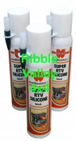 WURTH RTV SUPER SILICONE BLACK 200ml HIGH TEMP GASKET X 3